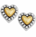 Brighton Gold Marci Heart Post Earrings