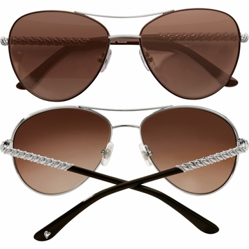 Brighton Helix Aviator Sunglasses