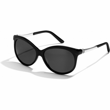 Brighton Black Meridian Oval Sunglasses