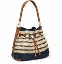 Brighton Natural/Blue Straw Tote