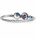 Brighton Purple Halo Hinged Bangle