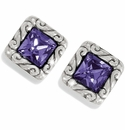 Brighton Purple Regina Mini Post Earrings