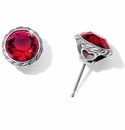 Brighton Red Iris Stud Earrings
