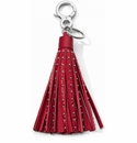 Brighton Rockstar Leather Tassel Fob - Lipstick Red