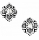 Brighton Silver Alcazar Petite Mini Post Earrings
