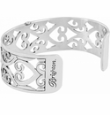 Brighton Silver Christo Madrid Narrow Cuff Bracelet