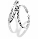 Brighton Silver Contempo Large Hoop Earrings