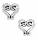 Brighton Silver Genoa Heart Mini Post Earrings