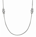 Brighton Silver Infinity Sparkle Long Necklace