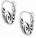 Brighton Silver London Groove Hoop Earrings