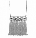Brighton Silver Marrakesh Long Tassel Necklace