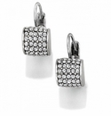 Brighton Silver Meridian Leverback Earrings