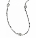 Brighton Silver Meridian Petite Long Necklace