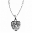 Brighton Silver Mumtaz Small Heart Necklace