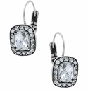 Brighton Silver Reina Leverback Earrings