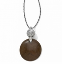 Brighton Silver Roma Wood Necklace