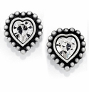 Brighton Silver Shimmer Heart Mini Post Earrings