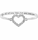 Brighton Silver U R Loved Heart Bangle Bracelet