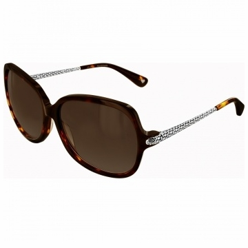 Brighton Talana Soft Square Tortoise Sunglasses with Metal Accents