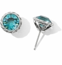 Brighton Turquoise Iris Stud Earrings