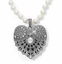 Brighton White Mumtaz Pearl Necklace