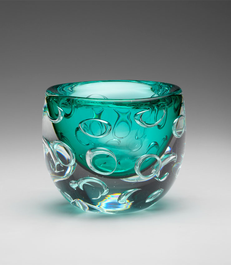 bristol round turquoise glass vase by cyan design. Black Bedroom Furniture Sets. Home Design Ideas