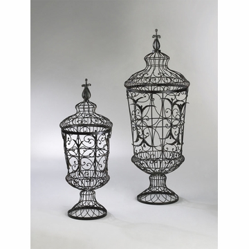 Brocade Wire Urns Set (2) by Cyan Design