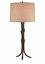 Bronze Bamboo Lamp With Cream Shade (2 Way And 100W) Home Decor