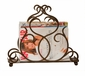 Bronze Flare Scroll Magazine Holder Home Decor