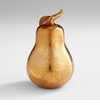 Bronze Glass Pear Sculpture by Cyan Design
