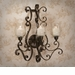 Dessau Home Bronze Iron 3 Light Acanthus Sconce Home Decor