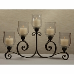 Bronze Iron 5 Light Acanthus Candelabra Home Decor