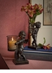 Bronze Iron Angel Sculpture with Votive Home Decor