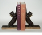 Bronze Iron Cat Bookends Home Decor