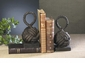 Dessau Home Bronze Iron Rope Knot Bookends Home Decor