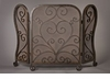Bronze Mesh Firescreen with Scroll Design Home Decor