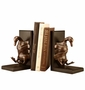 Bronzed Brass Duck Tape Bookends by SPI Home
