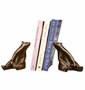 Bronzed Brass Sitting Bear Bookends by SPI Home