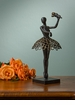 Bronzed Iron Ballerina Sculpture Home Decor