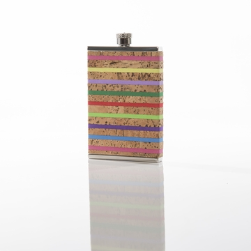 Brouk and Co Corked Flask 3oz Stripes