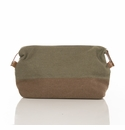 Brouk and Co Original Toiletry Bag, Green and Brown