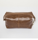 "Brouk and Co ""The Journeyman"" Dopp Kit - Brown Vegan Leather"