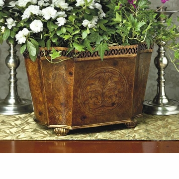 Dessau Home Burlwood Iron Planter Home Decor