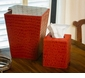 Dessau Home Burnt Orange Croc Waste Basket Home Decor