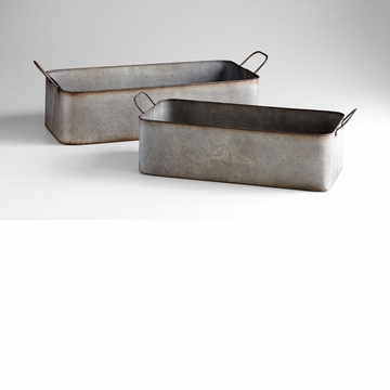 Camden Rectangular Iron Containers Set (2) by Cyan Design