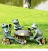 Card Cheat Frogs Garden Sculpture by SPI Home