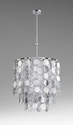 Carina Nine Light Pendant Silver by Cyan Design