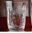Casafina 14oz Crackle Glass Double Old Fashioned