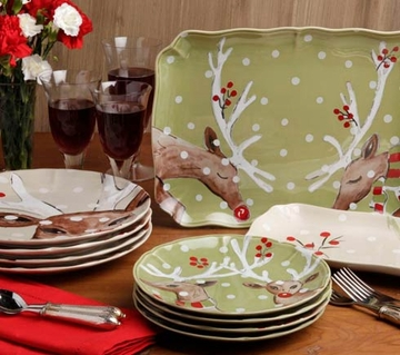 & Casafina Deer Friends Holiday Dinnerware Collection