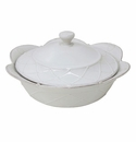 Casafina Meridian White Round Covered Casserole